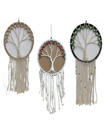 "12"" Tree of Life Dreamcatcher with Beads"