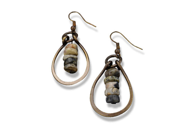 Anju Tear Drop Agate Earrings