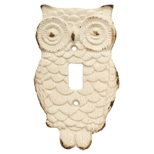 NITE OWL SWITCH PLATE ANTIQUE WHITE