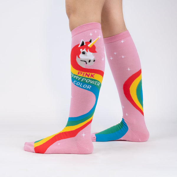 Rainbow Mane Knee High Socks