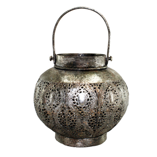 Pemvi Antique Silver Metal Lantern