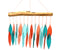 Coral And Teal Driftwood Wind Chime