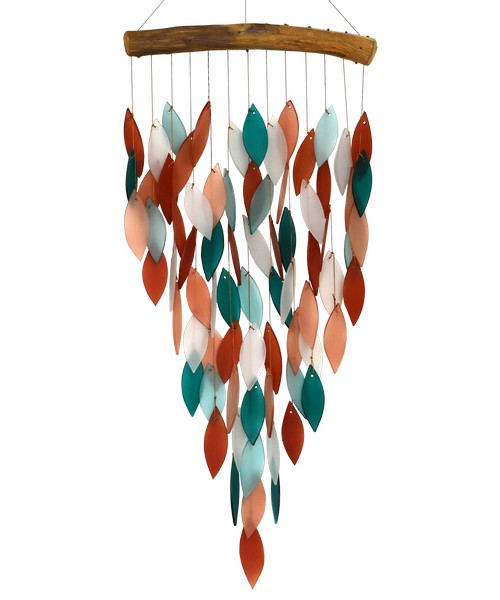 Spring Leaves Driftwood Glass Chime