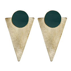 Forest Green Statement Studs