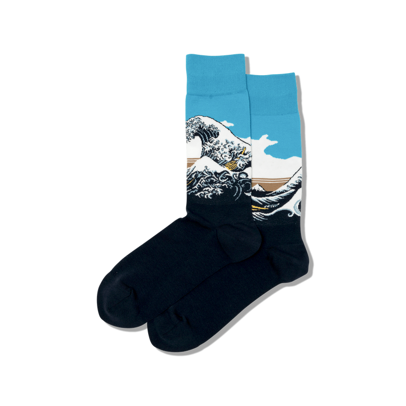 Hot Sox Men's Big Wave Socks
