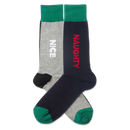 Men's Naughty and Nice Crew Socks