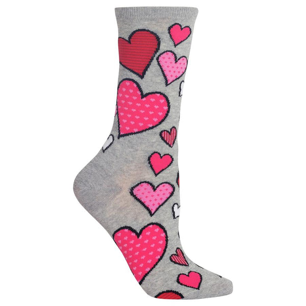 Women's Heart Crew Socks