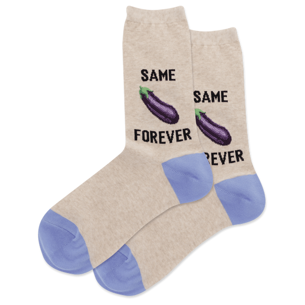 Hot Sox Women's Same Eggplant Forever Socks