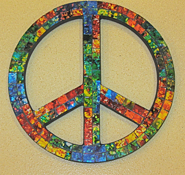 Mosaic Peace Sign