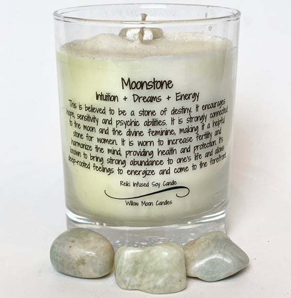 Willow Moon Candles Moonstone Candle (Locally Made)