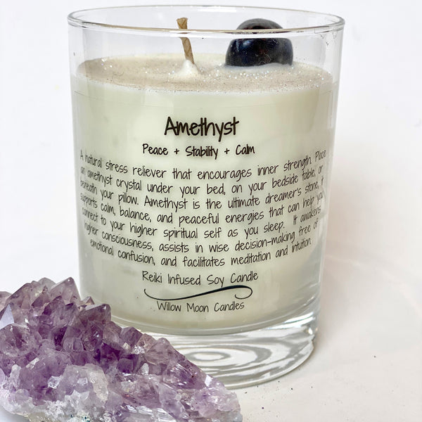 Willow Moon Candles Amethyst Candle (Locally Made)