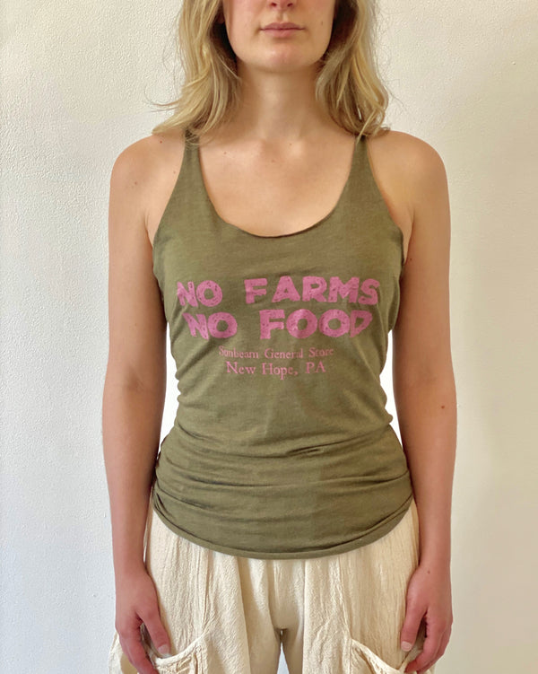 Sunbeam General Store No Farms No Food Tank Top