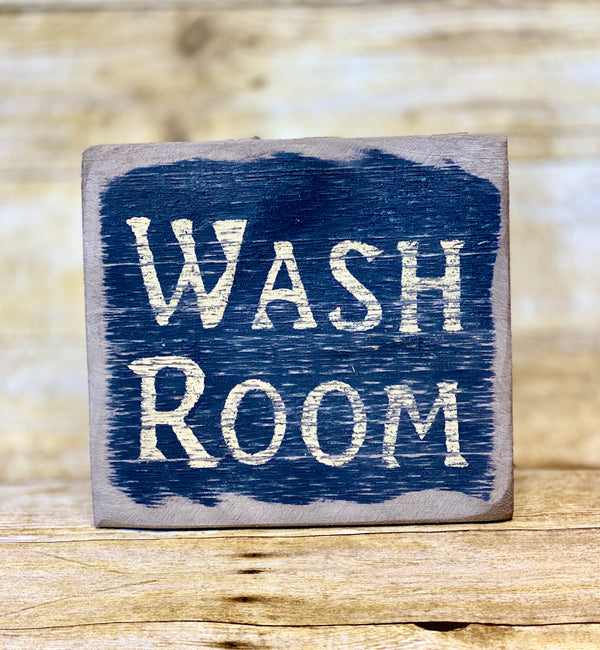 Keystone Wash Room Sign (Made in Pennsylvania)