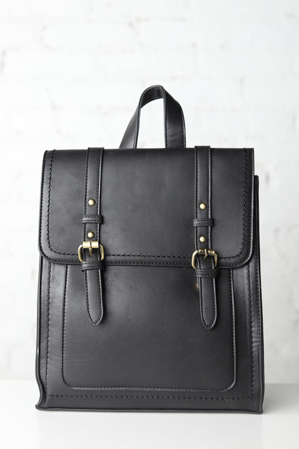 Kat Convertible Backpack Flap & Buckle