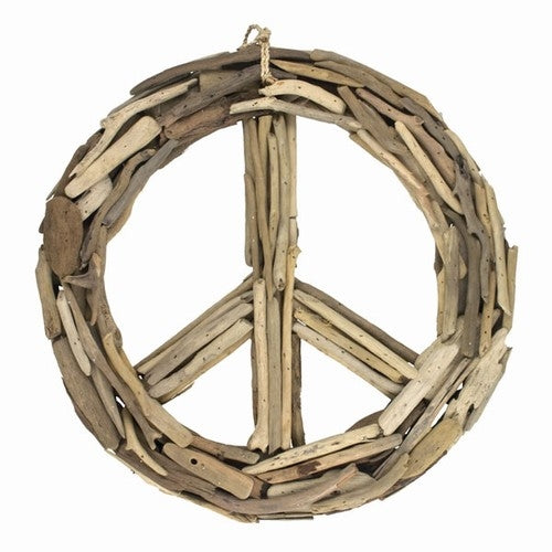 World Buyers Driftwood Peace Sign