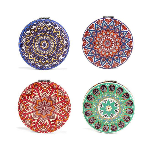 Mandala Pocket Mirror Compact