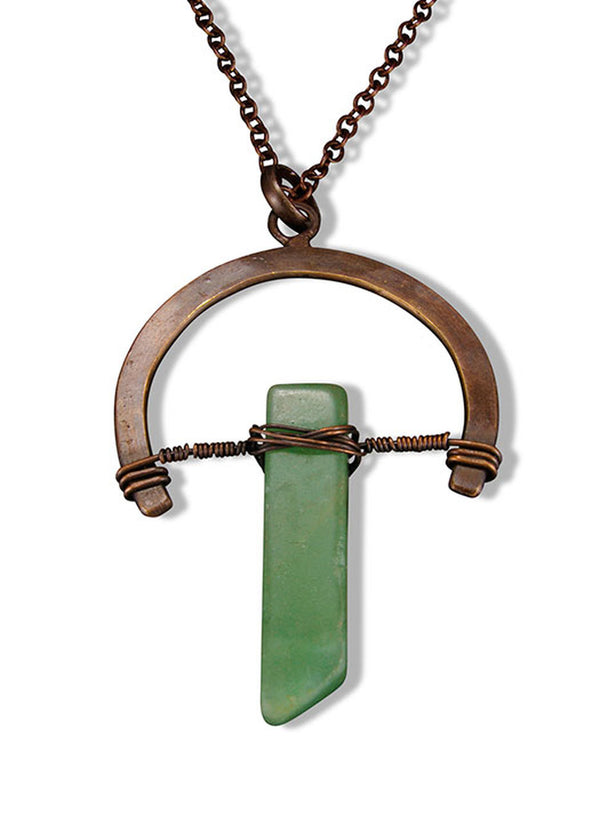 Aventurine Hemisphere Necklace
