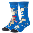 Ren & Stimpy Hilarious Mens Crew Straight Down Socks