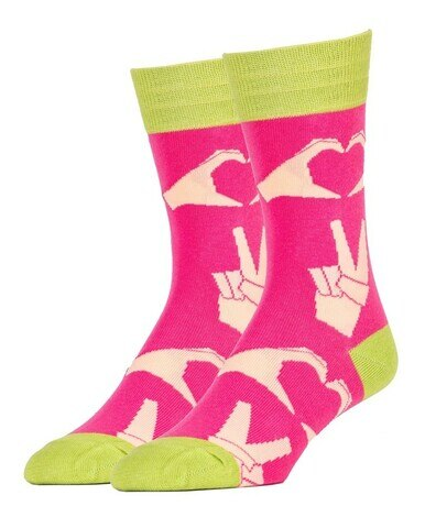 Men's Peace & Love Crew Socks