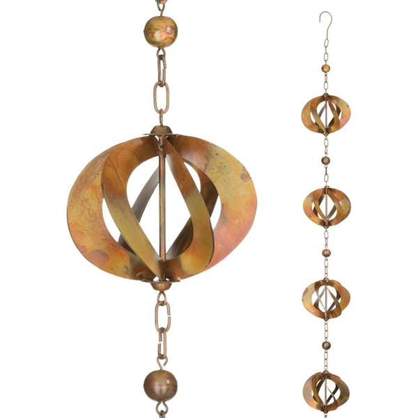 Copper Spinner Rain Chain
