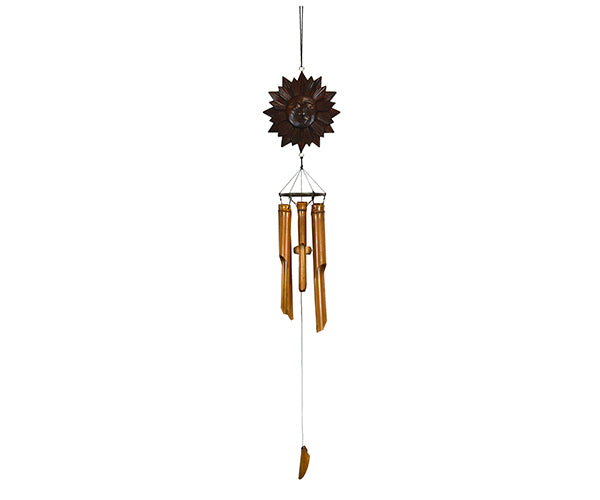 Antique Sun Bamboo Windchime