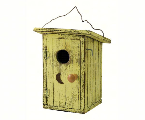 Bird Outhouse Yellow