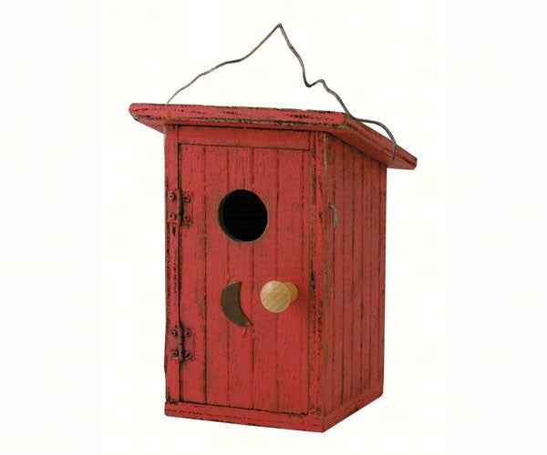 Bird Outhouse Red