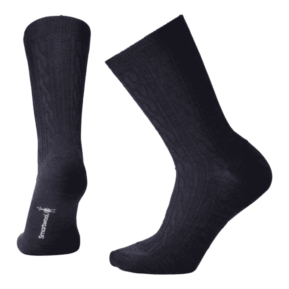 Women's Deep Navy Heather Cable II Socks