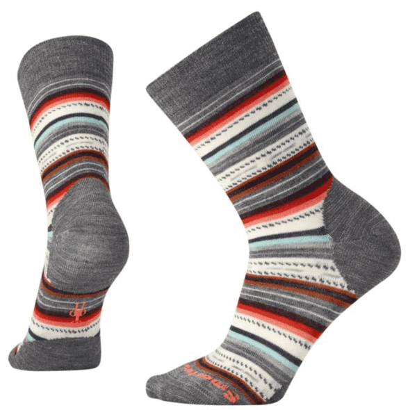 Women's Medium Gray Heather/Bright Coral Margarita Socks