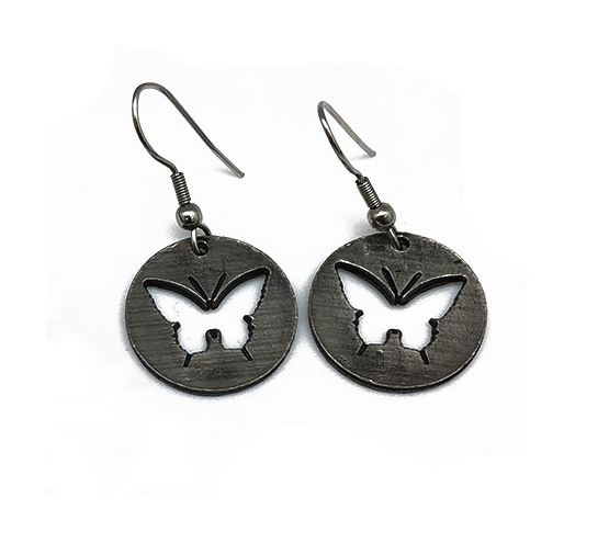 Butterfly Pewter Earrings