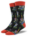 Acoustic Roots Black Mens Socks