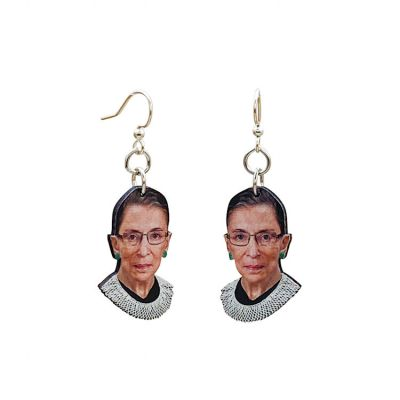 Ruth Bader Ginsburg Wood Earrings