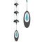 Woodstock Temple Bells Turquoise Wind Chime