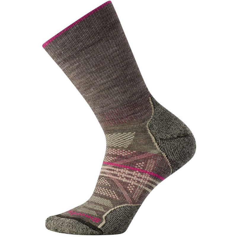 Women's Taupe PhD Outdoor Light Hiking Crew Socks