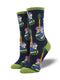 Acoustic Roots Navy Womens Socks