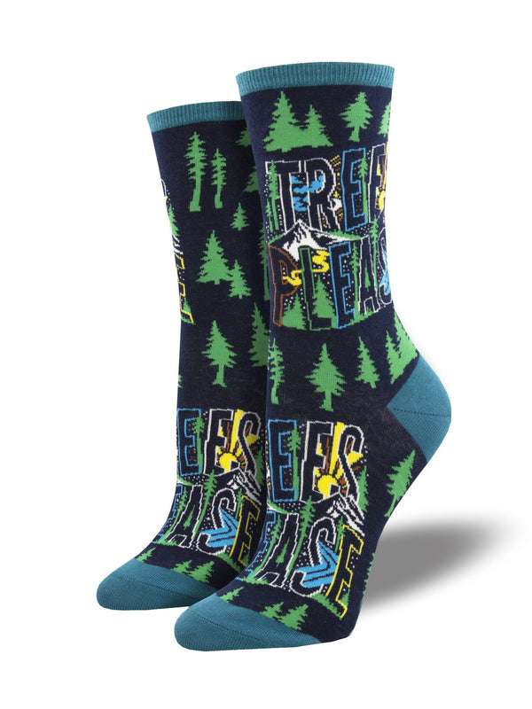 Women's Trees Please Navy Socks