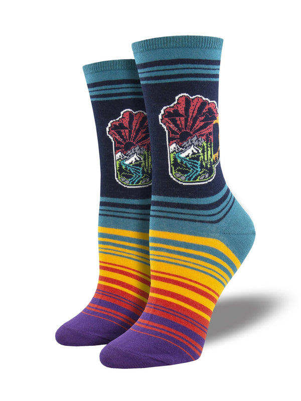 Hop Wild Navy Womens Socks