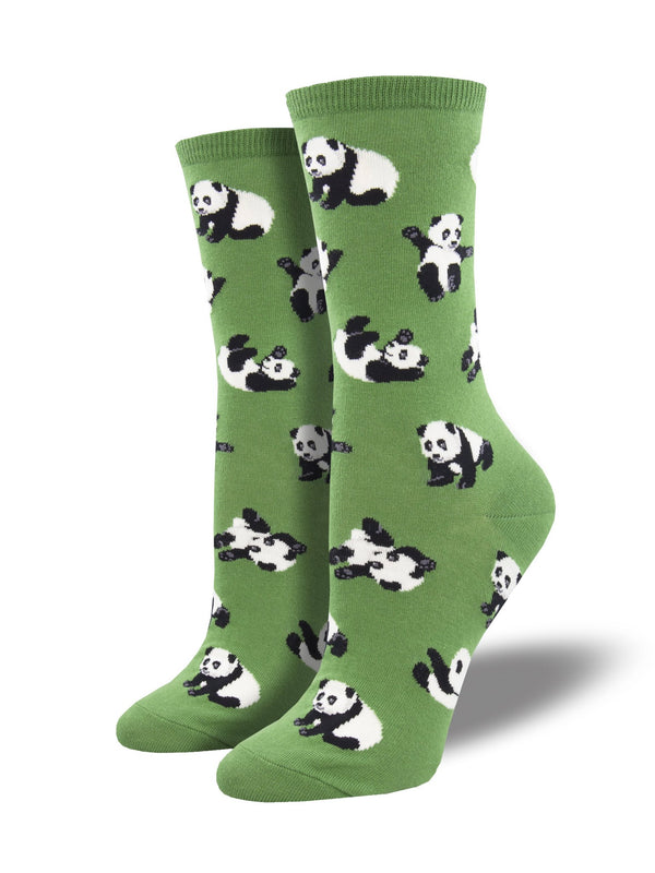 Cuddle Puddle Green Womens Socks
