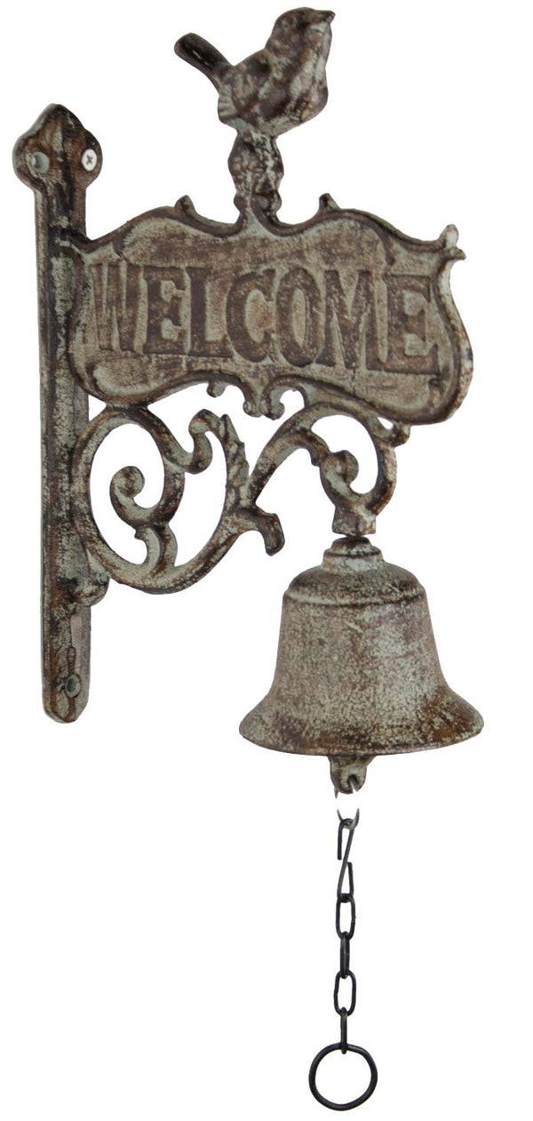 Bird Welcome Sign and Bell