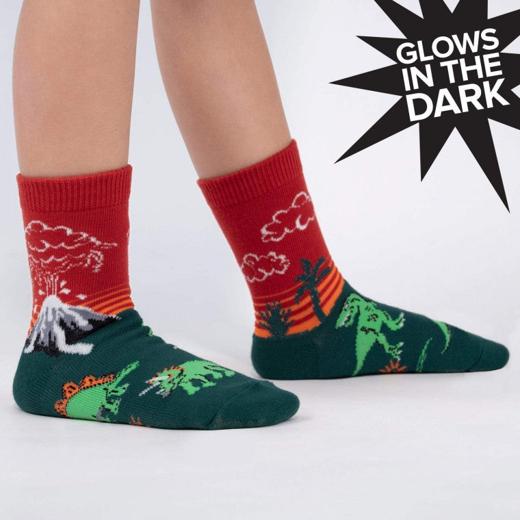 Youth Dinosaur Glow In the Dark Socks
