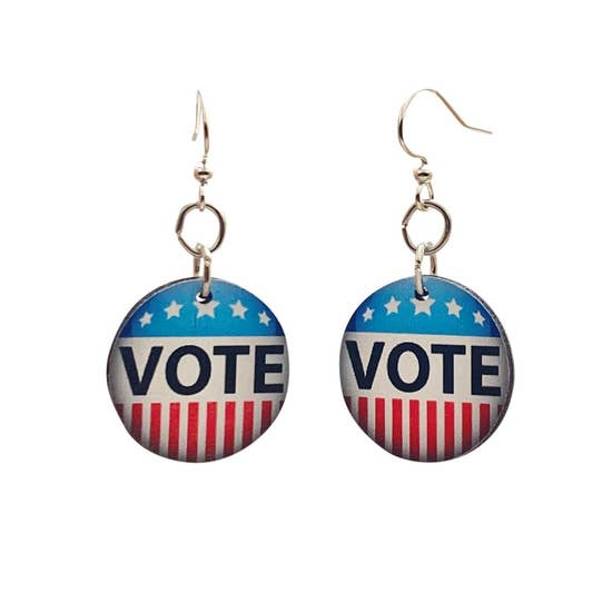 VOTE Wooden Earrings