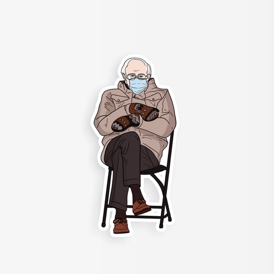 Bernie in Chair Sticker