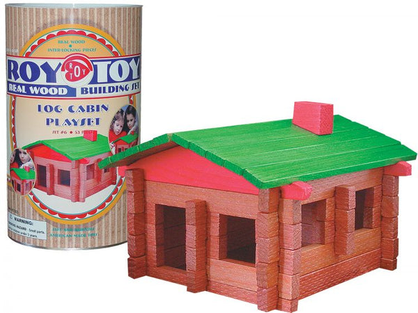 Roy Toy Log Cabin Play Set