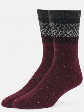 Annalise Snowflake Cashmere Crew Sock