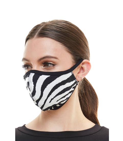 Zebra print fashion face mask cloth reusable fabric mask