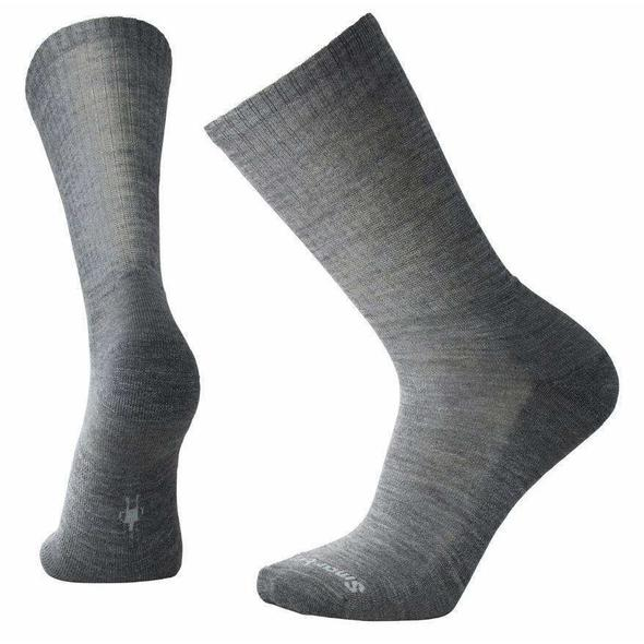 Men's Medium Gray Heathered Rib Socks