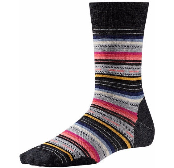 Women's Charcoal Stripe Margarita Socks