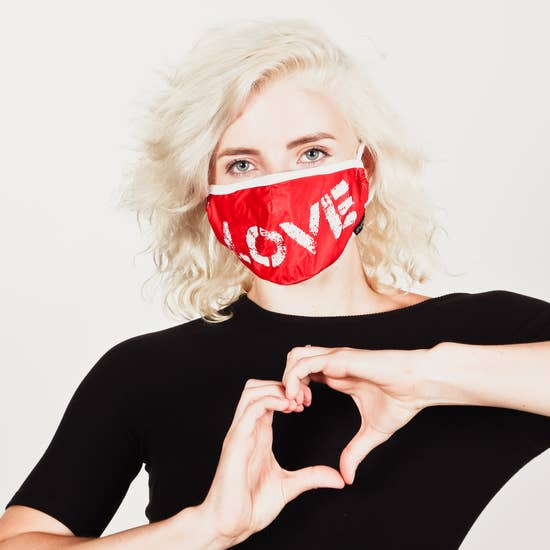 Fabric Face Covering Mask- LOVE
