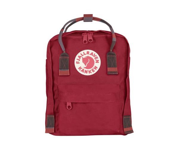 Kanken Mini Deep Red/ Random Block