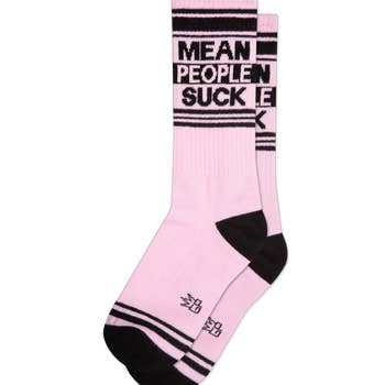Mean People Suck Gym Socks
